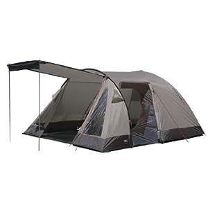 High Peak Caurus 4 - Tente de camping 4 personnes - 390 x 240 x 180cm- marron clair/marron foncé