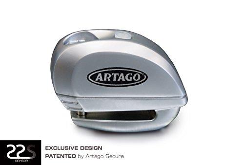 ARTAGO - Candado Antirrobo para disco de freno 22S con Alarma de 120 db