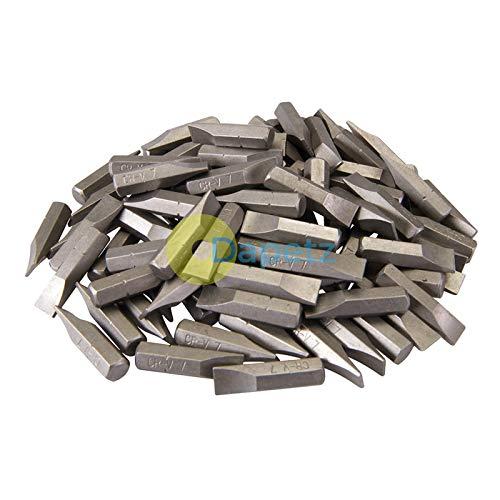 Dapetz® 100Pk Fendue Crv Tournevis Bits - Fendue 7mm Acier Chrome Vanadium