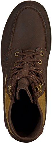 Sebago B710076 Herren Stiefelette Braun(dark brown leather/olive Textile WP British Miller)