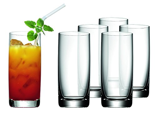WMF Easy Longdrinkgläser Set, 6-teilig, 350 ml, Cocktailglas Kristallglas, spülmaschinengeeignet, bruchsicher