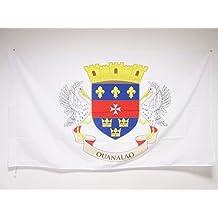 DRAPEAU SAINT-BARTHÉLEMY 150x90cm - DRAPEAU DE SAINT BARTHÉLÉMY - FRANCE 90 x 150 cm Fourreau pour hampe - AZ FLAG