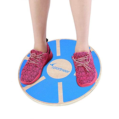 Sportneer Wooden Balance Board, 40cm Exercise Balance & Stability Trainer 1 Pack
