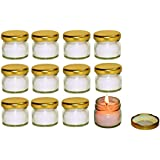 Pure Source India Scented Mini Travel Jar Candle 30 Gram Each Set Of 12 Pcs White Unscented Candles .