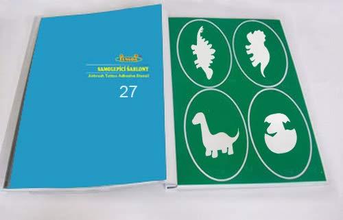 Pochoir de tatouage d´Aérographe - livre 27 - Dino
