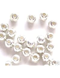 5x Rhinestone Diamante Silver Plated Love Bracelet Curved Connectors Joiners