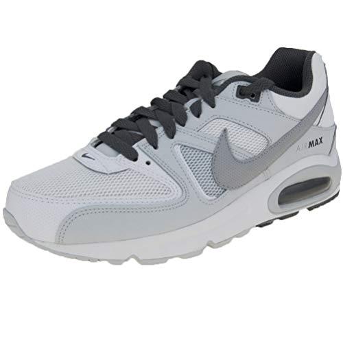 Nike Herren AIR MAX Command Laufschuhe Mehrfarbig (White/Wolf Pure Platinum-Dark Grey 107), 45 EU