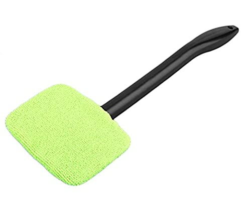 AOAUTO® Microfiber Auto Window Car Cleaning Long Handle Car Wash Brush Dust Car Care Windshield Towel Handy Washable Car Cleaner (2pcs