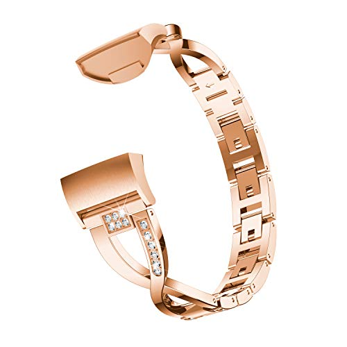 a728d93dcb63 HEYSTOP Bling Bands Compatible Fitbit Charge 3