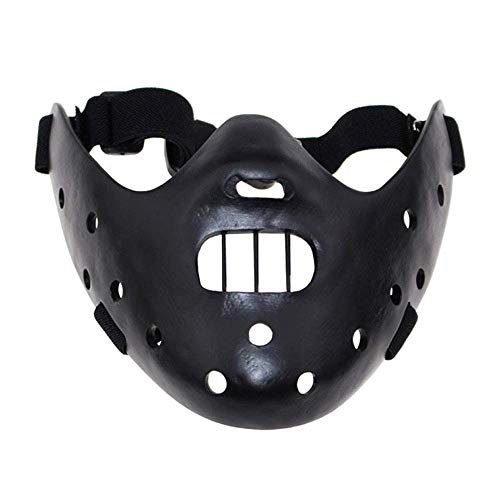 YaPin Halloween Silent Lamm Hannibal Horror Teufel COS Dress Up Promi Harz Gesichtsmaske (Color : Black)