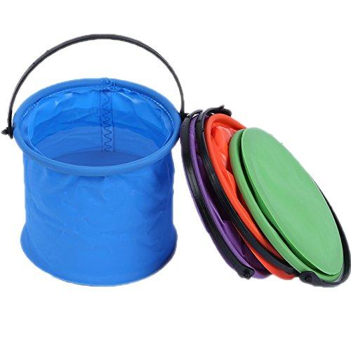 Quemu Co.,Ltd. faltbar Wasser Container Artist Pen Waschen Eimer mit Tragegriff für Camping, Wandern, Reisen Orange