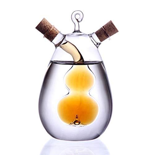 FGASAD Ölspender, 2-in-1, Olivenöl und Essigspender, Aroma-Glasflasche, Küchengeschirr, 350 ml -