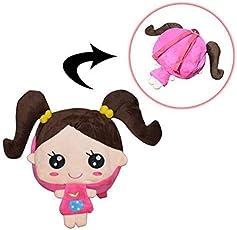 Kids Plush Baby Bag for School, Nursery, Picnic, Travelling (Pink)