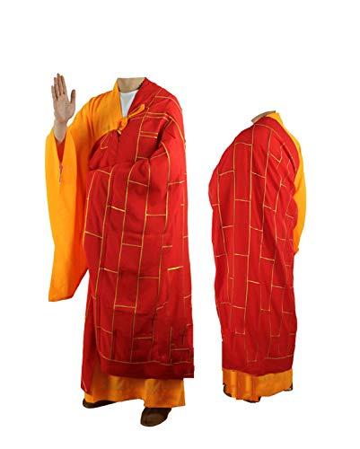 JTIHGNFG JTIH® Buddhistische Kleidung Mönchskleidung Phnom Penh Kleidung und Mäntel Seidenmaterial Zuyi (Buddhistische Kostüm)