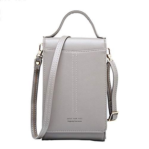 7d39d0482836 Lamdoo Women s Crossbody Cell Phone Shoulder Bag Pouch Case Handbag Purse  Wallet Card Holder Gray A