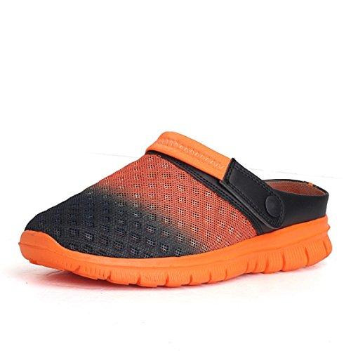 FNKDOR Herren Damen Unisex Strand Breathable Mesh Flip Flops Schuhe Hausschuhe (42, Orange)