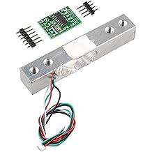 HALJIA Portable Electronic Weight Sensor Load Cell Weighing Sensor (5KG) + HX711 Weighing Sensors Ad Module For Arduino Raspberry Pi DIY Etc