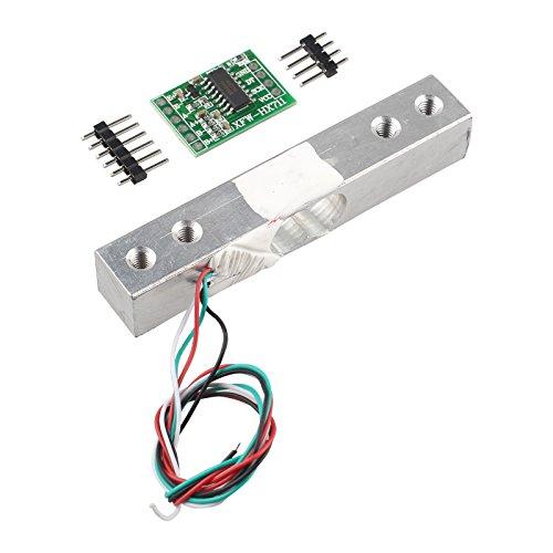 haljia Tragbarer Elektronischer Gewicht Sensor Wägezelle Sensor (1kg) + HX711Gewicht Sensoren AD Modul für Arduino Raspberry Pi DIY etc.