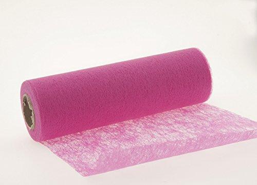 jb 25 Meter Vlies Tischband Tischläufer Tischedeko Dekovlies (pink)