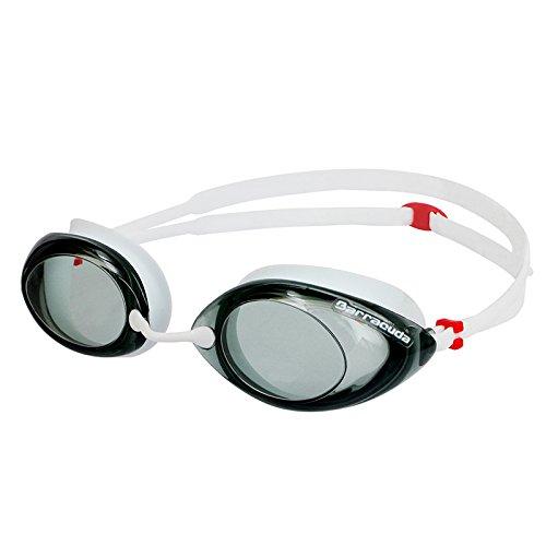 Dr.B Racer - Optische Schwimmbrille mit Sehstärke 100% UV-Schutz #32295 (Weiß, -3.5)
