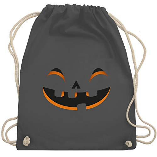 Halloween - Kürbisgesicht Kostüm - Unisize - Dunkelgrau - WM110 - Turnbeutel & Gym Bag