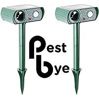 2er-Pack PestBye Solar Katzenschreck Katzenabwehr Ultraschall Vertreiber PestBye
