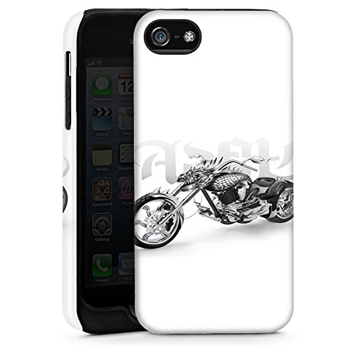 Apple iPhone 5s Housse étui coque protection Moto Cas Tough brillant
