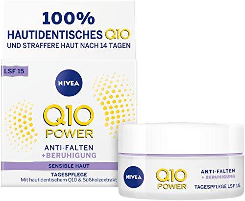 NIVEA Q10 Power Anti-Falten + Reduzierte Sensibilität Tagespflege für glattere & jünger...