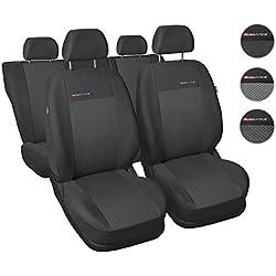 Housses Siège Auto Avant et Arrière Voiture avec Airbag Système Elegance P3 - Gris