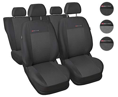 Coprisedili Auto Anteriori e Posteriori Copri-sedile con Airbag Sistema Elegance P3 - Grigio