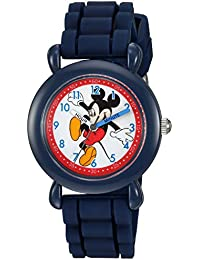 Disney Boy's 'Mickey Mouse' Quartz Plastic and Silicone Casual Watch Color:Blue (Model: WDS000012)