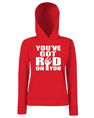 T-Shirtshock - Sweats a capuche Femme OLDENG00790 you got red on you Rouge
