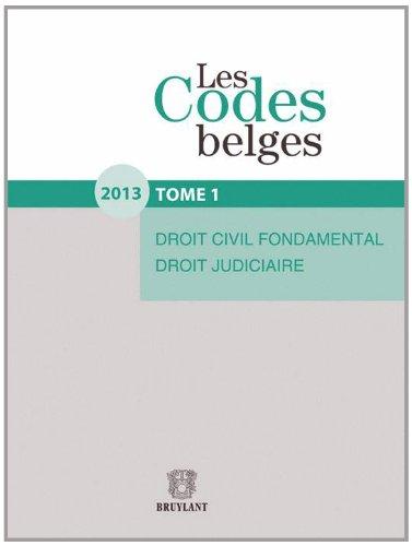 Les Codes belges. Tome 1. 2013