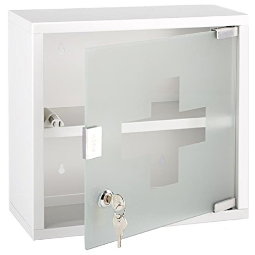 lockable-medicine-storage-cabinet-locking-medical-cupboard-safe-box-2-lock-keys-wall-mountable-61213