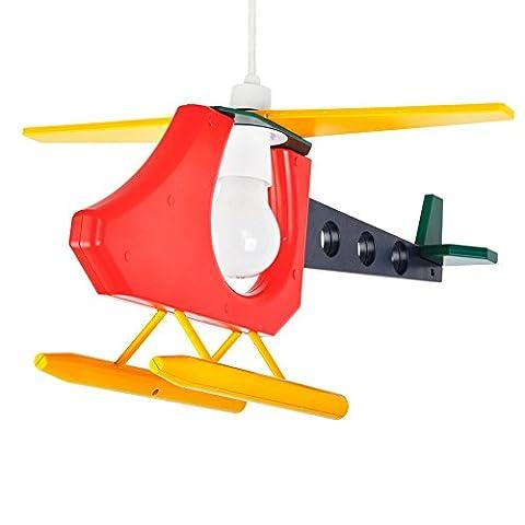 MiniSun, Abat-Jour Abat Jour pour Suspension, Hélicoptère Multicolore en Vol. Parfait pour enfants ou Décor