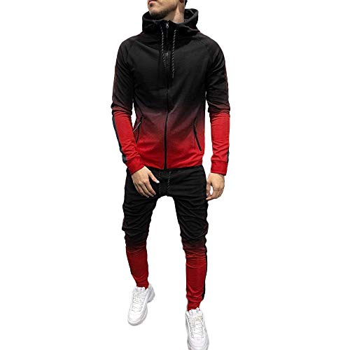 ➤Refill➤Streatwear Trainingsanzüge für Herren,Jogging Anzug Trainingsanzug Sportanzug Sweatshirt Hose Sets Herbst Winter Hoodie Sport Casual Strickjacke