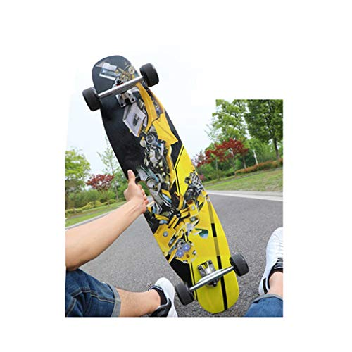 YXLZZO Tragbare Allrad-Doppel-Tanzplatte 100 x 23 cm für Skateboard-Langbürstenbürstenstraßenanfänger (Farbe : B)