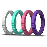 Elegante Silicone Compromiso Rings for Women Maui Rings Stackable rings Silicone Wedding Ring For Women silicona