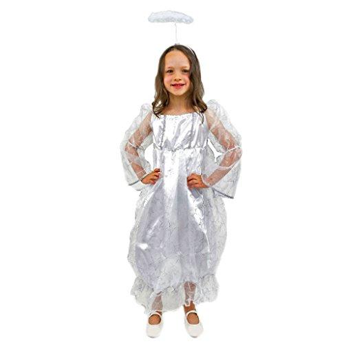 Lipta-TDP a.s. Kostüm Engel Sabi Gr. 116- 140 Mädchen Kleid weiß Weihnachten Kinder Krippenspiel (128)