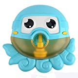 Webla Poulpe Bain Jouet Pieuvre Machine À Bulles Poulpe Cracher Bulle Bain Jouet Bleu Machine À Bulles Tub Big Cute Octopus Automatique Bubble Maker Souffleur 12 Musique Song