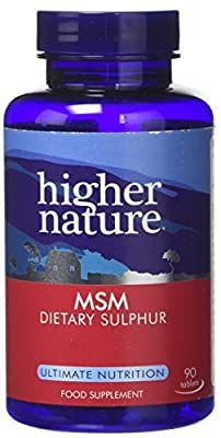 Higher Nature 1000mg MSM - Pack of 90 Tablets