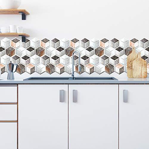 Hffan Kinlo 30X 30X 0.4cm 3D PVC Verdicht DIY Self-Adhesive Waterproof Wallpaper Wall Panels Anti Collision Foam Panel Soft Decoration Brick Wall Stickers for Children