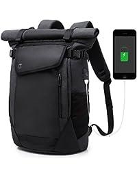 Roll Top Rucksack Laptop Rucksack Damen Herren Backpack mit USB Wasserdicht  Dayback 15 2e21d29b1725f