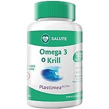 Omega 3 Krill : Olio di SARDINE + Olio di KRILL 435 mg di EPA/DHA - L'unico Olio di Pesce immatricolato al MINISTERO DELLA SALUTE ITALIANO - Composto unicamente da PREGIATI PESCI DI TAGLIA PICCOLA - Mantiene Basso Il Colesterolo