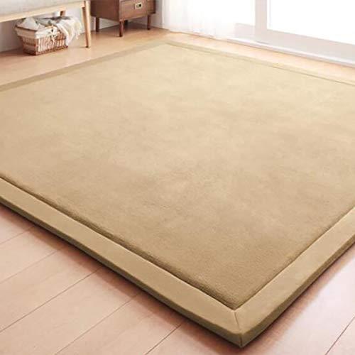 Tatami-matte (WENBIAOXUEDickere Tatami mat bodenmatte erker matratze Baby splittersichere Matte Schlafzimmer Teppich, 1.2 x 2 Meters (Thick 3cm), Sky Brown)