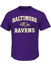 Baltimore Ravens Majestic NFL Heart & Soul III Men's Purple T-Shirt
