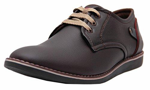 Black Tiger Men's Brown Formal Shoes - 8