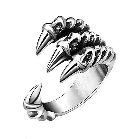 Personality Punk Popular Retro Titanium Steel Alondra Shaped Open Men Ring ,T½