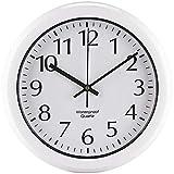 St. Leonhard Wanduhr für draußen: wasserdichte Funk-Wanduhr im Hochglanz-Gehäuse (Wetterfeste Uhr)