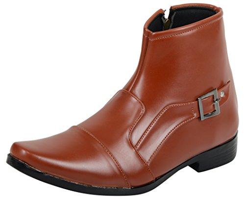 Elvace Men's Tan Ankle Boots - 10 UK